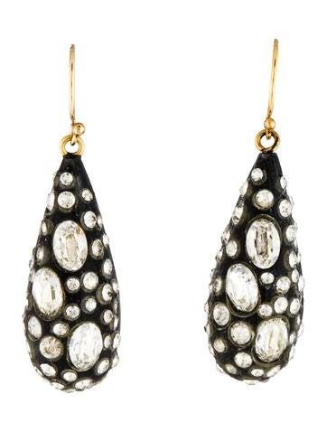 Alexis Bittar Crystal Encrusted Lucite Drop Earrings
