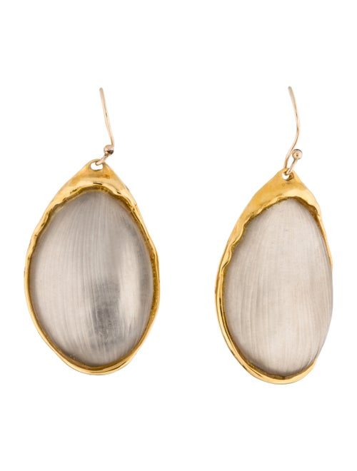 Alexis Bittar Lucite Drop Earrings Gold
