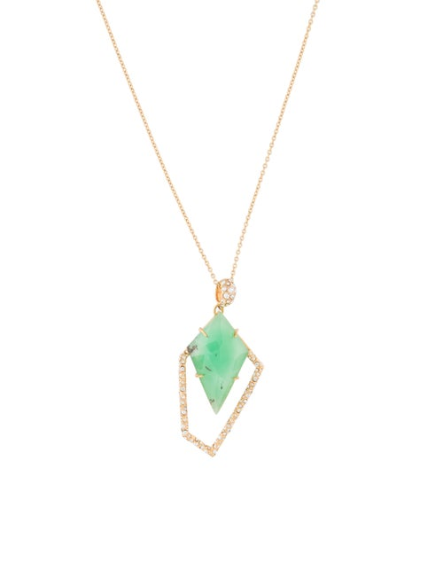 Alexis Bittar Chrysoprase New Wave Kite Necklace G