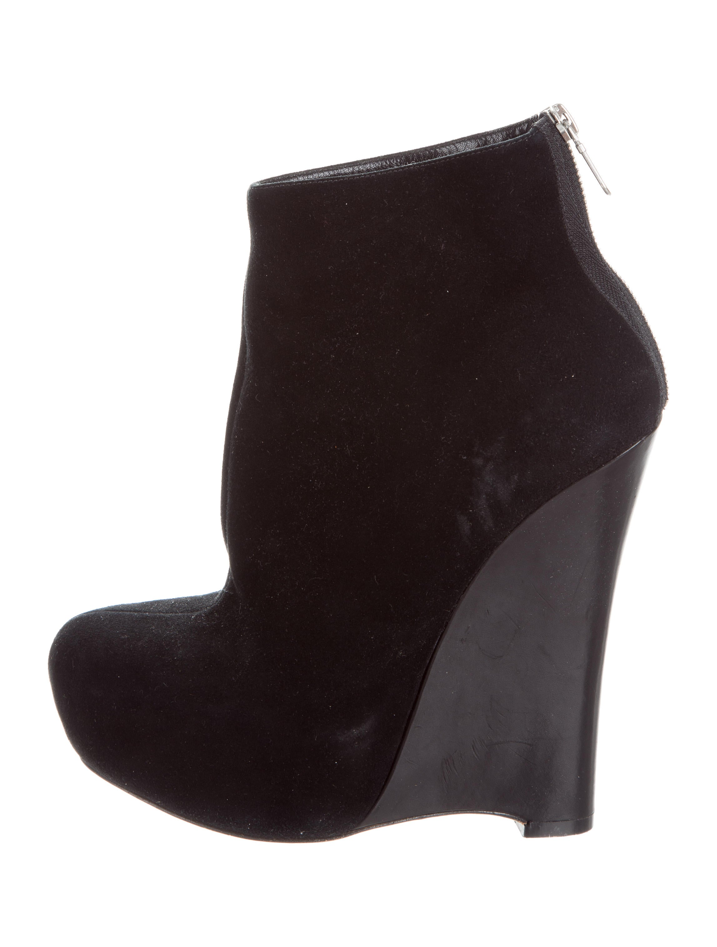 Black Suede Platform Wedge Boots Image Of Boots Imagenea Co
