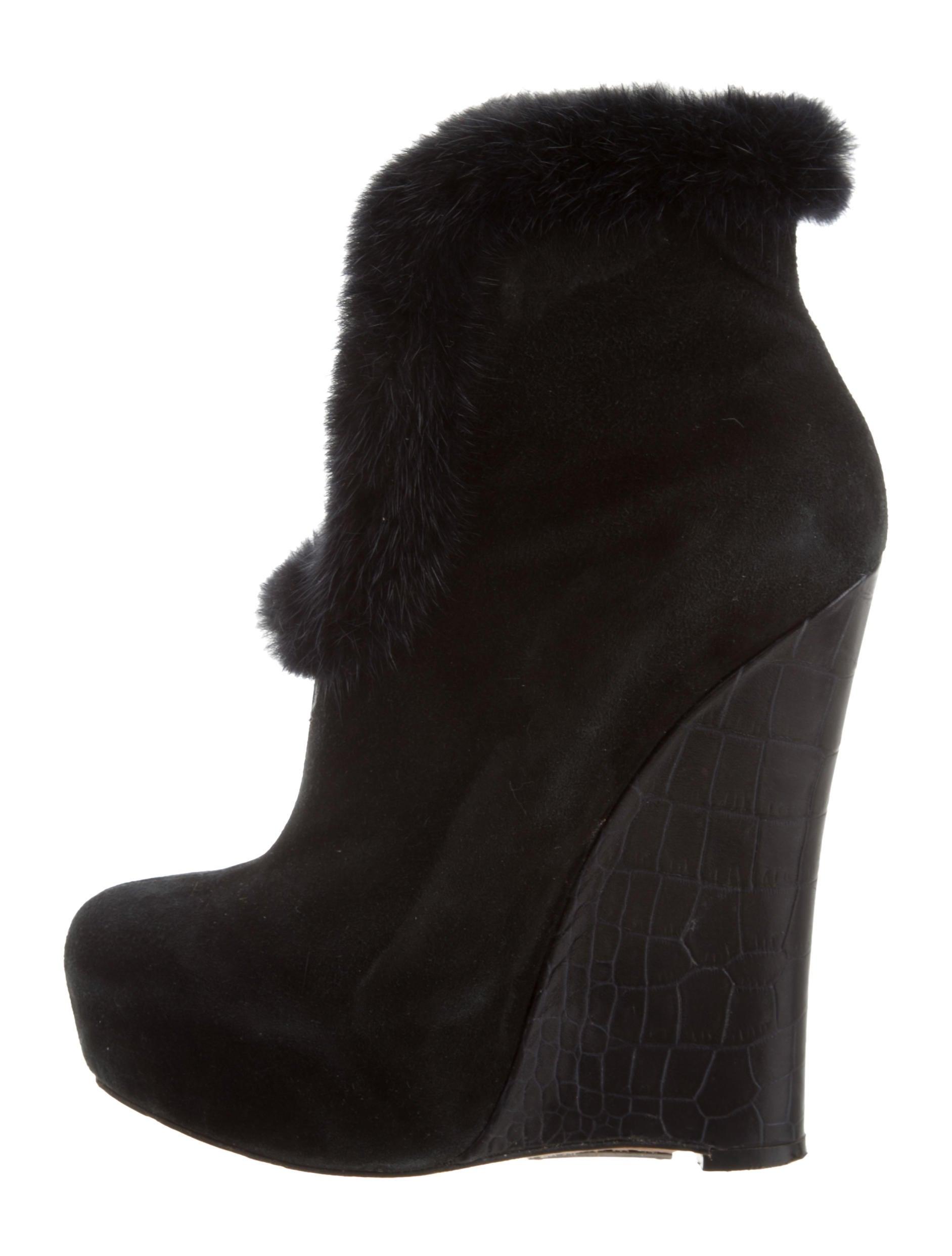 Alejandro Ingelmo Platform Fur-Trimmed Ankle Boots sneakernews cheap latest qSJCyScnD