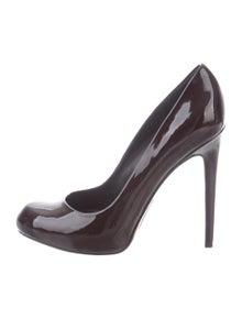 3d20eb54d1 Alejandro Ingelmo. Patent Leather Round-Toe Pumps