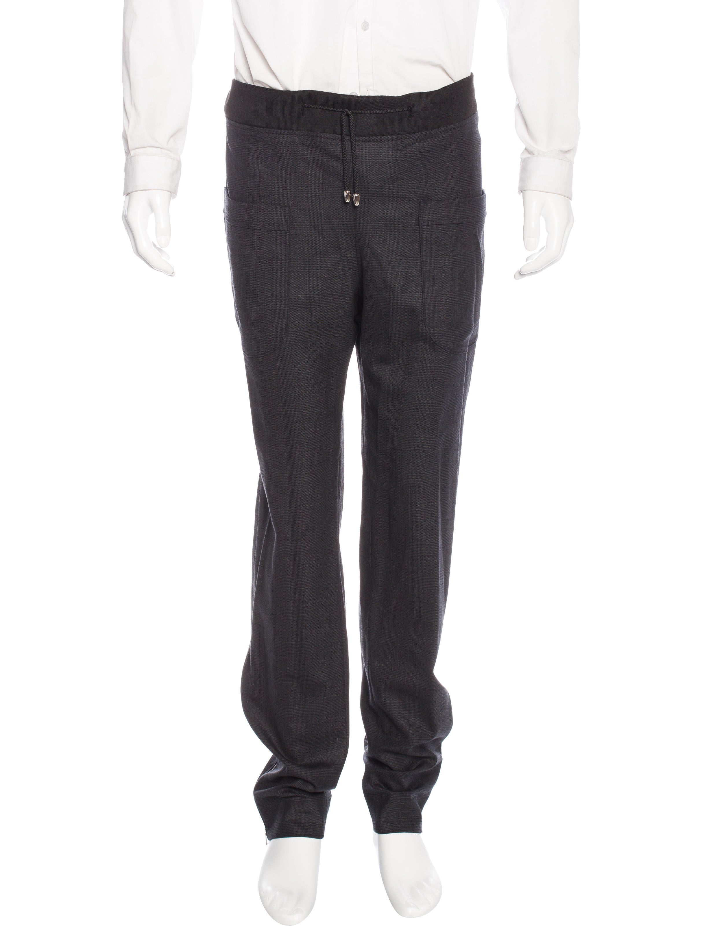 Alba Plaid Jogger Pants - Clothing - WAALB20002   The RealReal