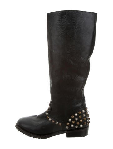 ash leather knee high boots shoes wab20246 the realreal