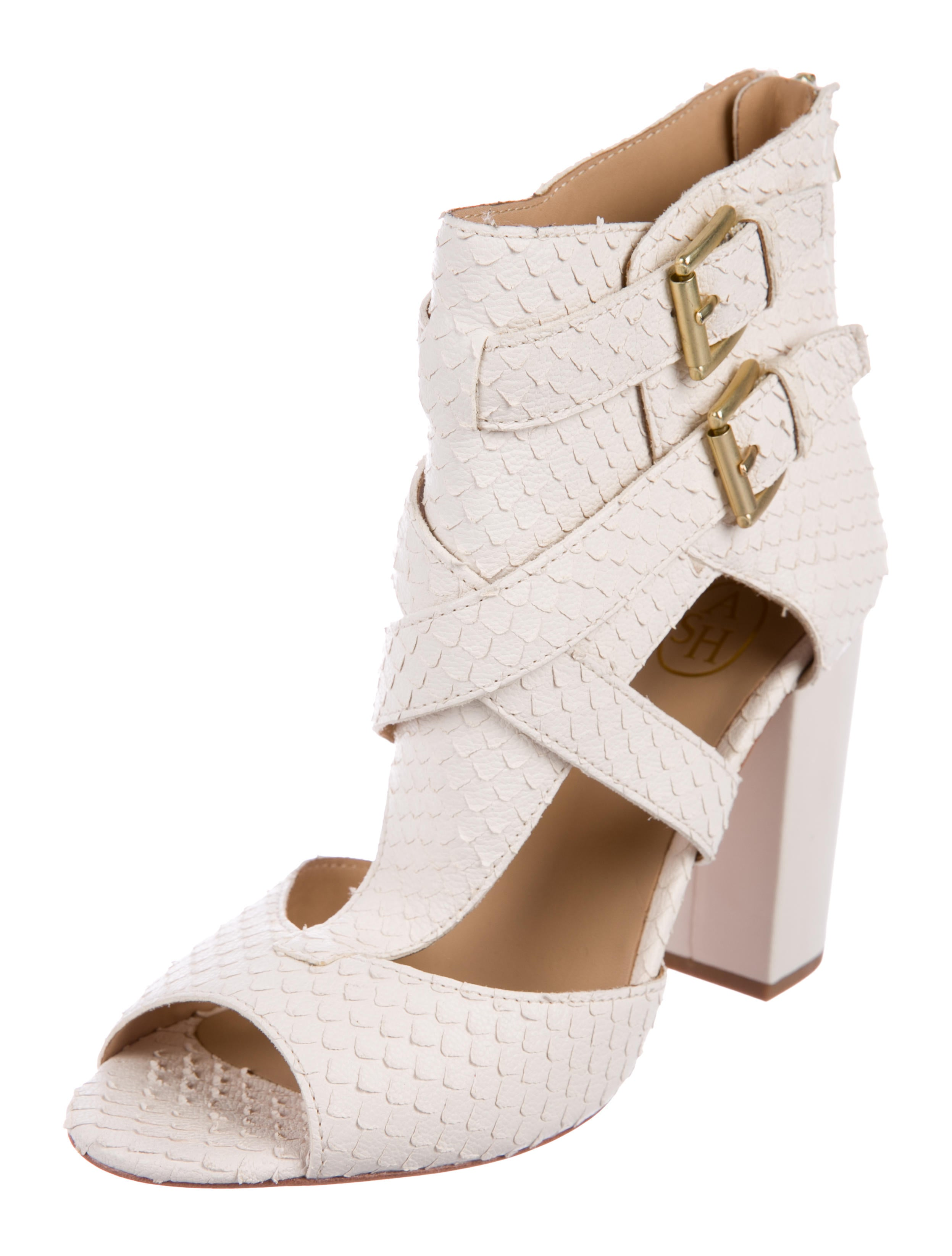 Ash Snakeskin Cage Sandals under 70 dollars p03lQe