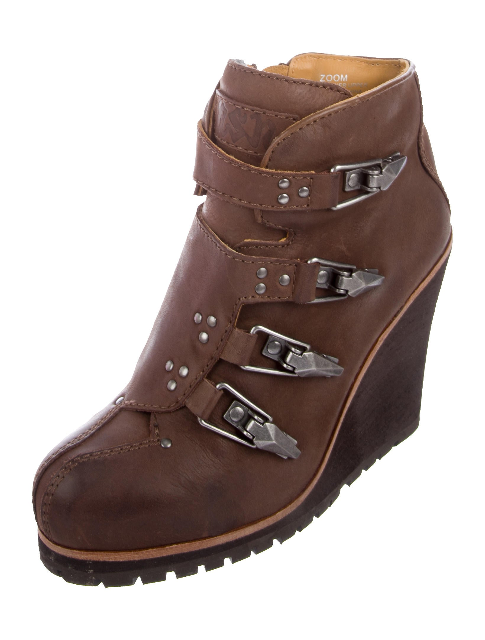Ash Castagna Leather Wedge Booties w/ Tags outlet best wholesale zrDwRnMB