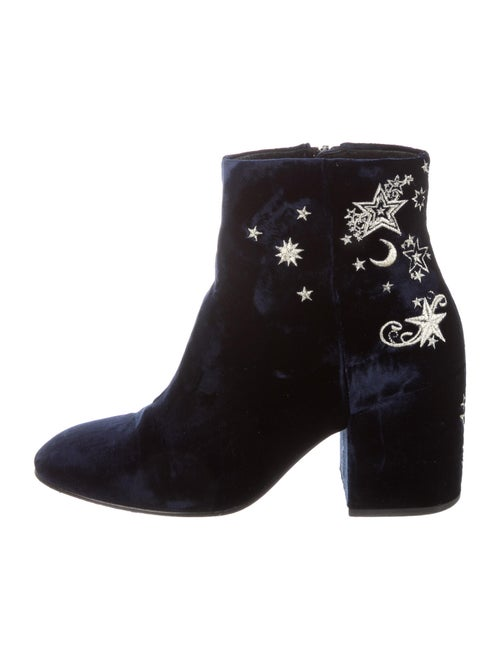 Ash Printed Embroidered Accent Boots Blue
