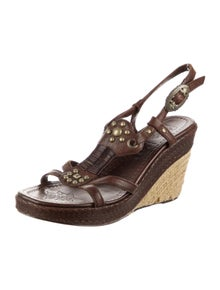 Ash Leather Braided Accents Espadrilles