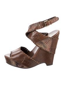 Ash Leather Animal Print Gladiator Sandals