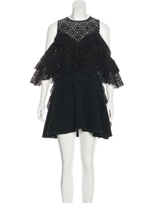 Acler Lace Pattern Mini Dress Black