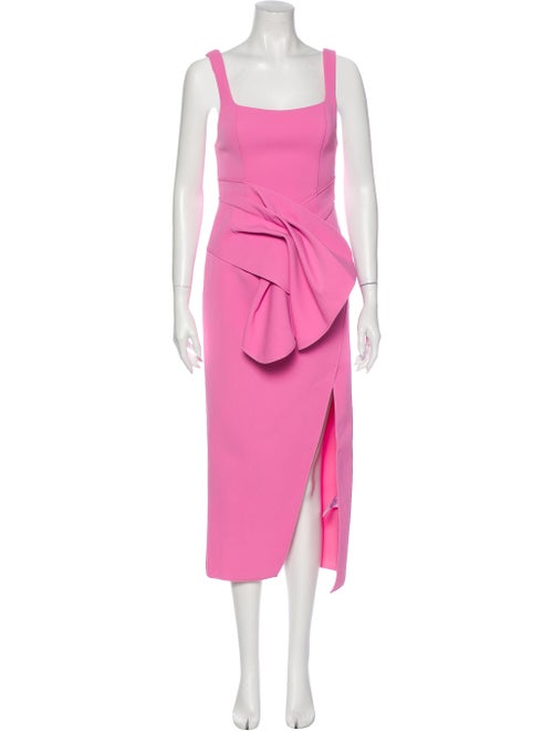 Acler Square Neckline Long Dress Pink