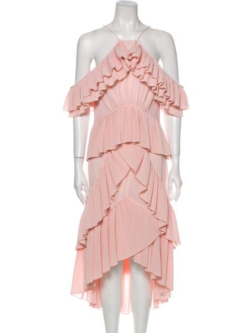 Acler Halterneck Long Dress Pink