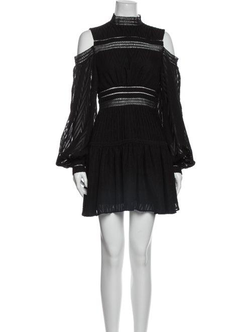 Acler Mock Neck Mini Dress Black