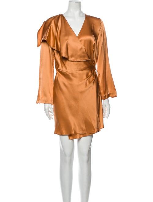 Acler Silk Knee-Length Dress Orange