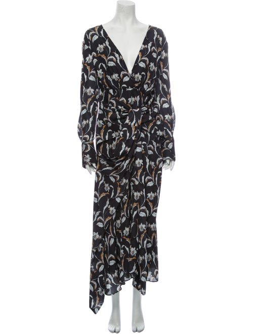 Acler Printed Long Dress w/ Tags
