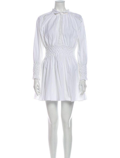 Acler Mock Neck Mini Dress White