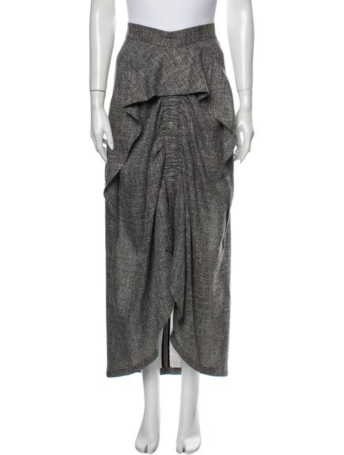 Acler Tweed Pattern Long Skirt Grey