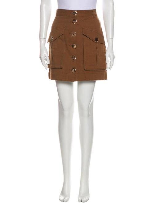 Acler Mini Skirt Brown