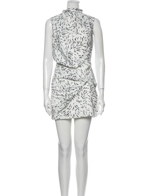 Acler Printed Mini Dress White