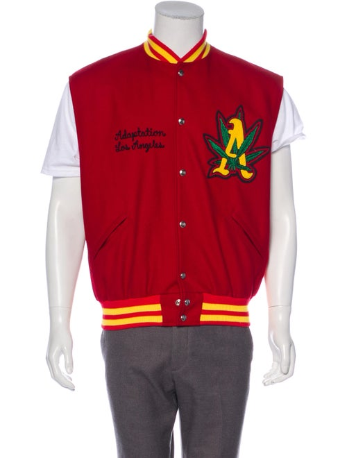 Adaptation Embroidered Varsity Vest red