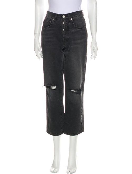Adaptation Mid-Rise Straight Leg Jeans Grey