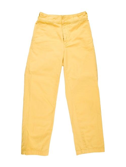 Adaptation Mid-Rise Straight Leg Jeans Yellow
