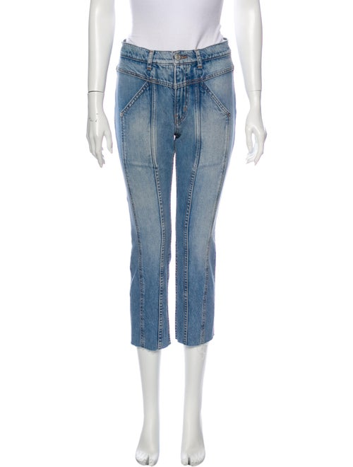Adaptation Low-Rise Straight Leg Jeans Blue