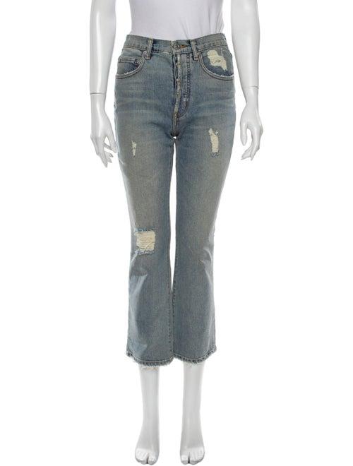 Adaptation High-Rise Straight Leg Jeans Blue