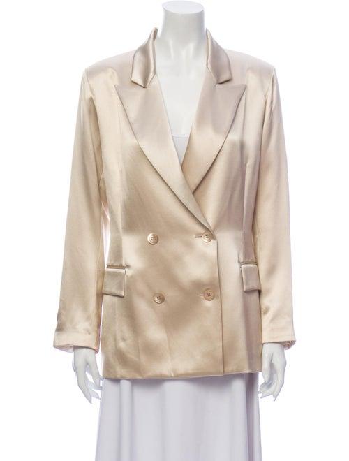 Adriana Iglesias Silk Blazer Gold
