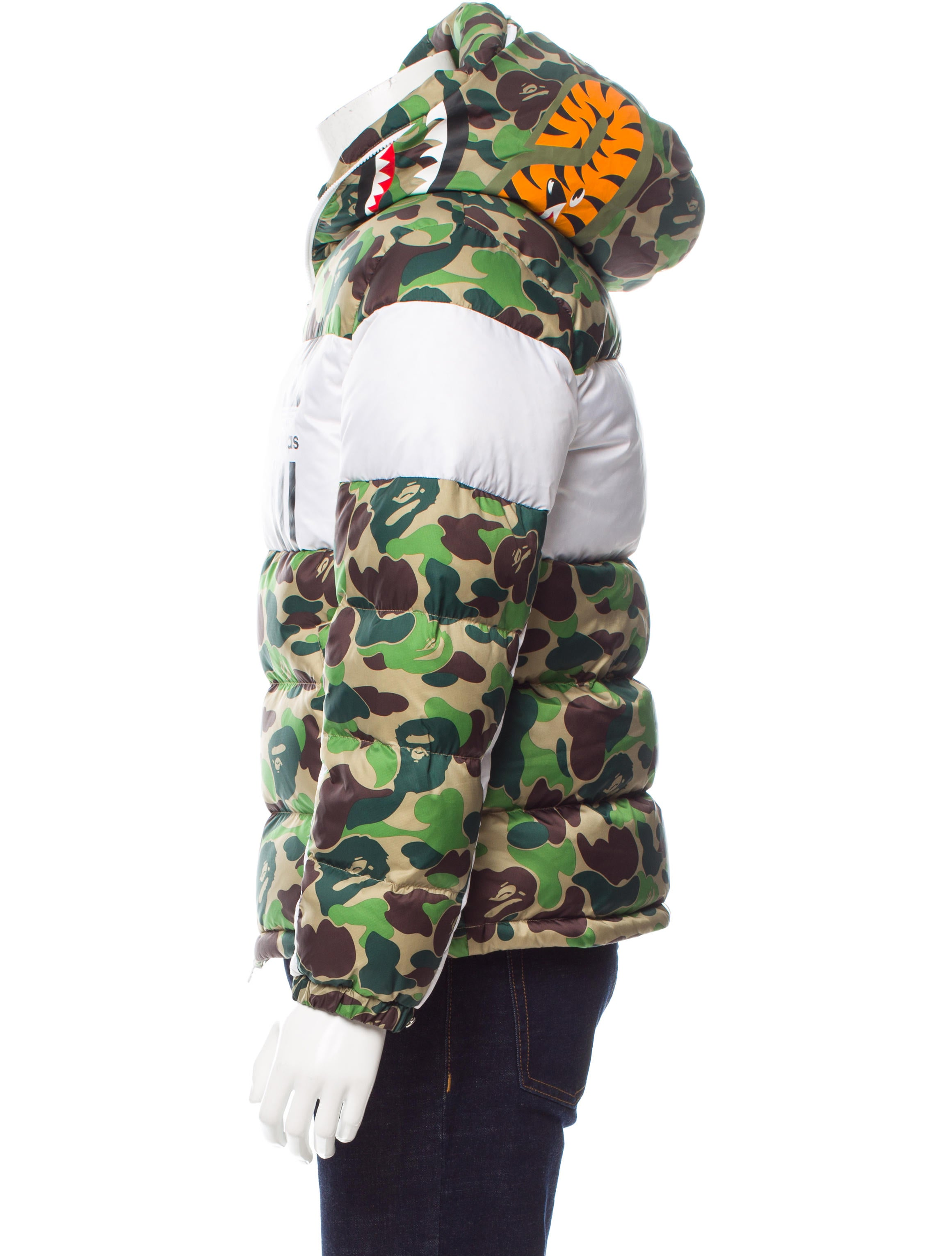 adidas originals x bape camouflage puffer jacket. Black Bedroom Furniture Sets. Home Design Ideas