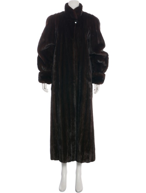 Adolfo Fur Coat Brown