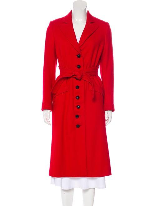 Adolfo Coat Red