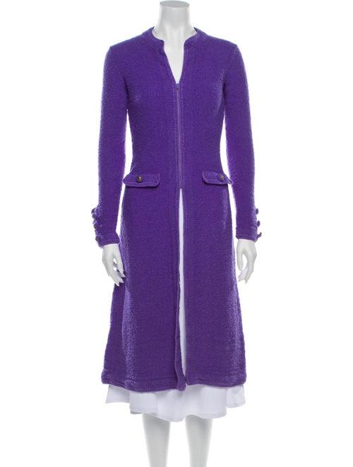 Adolfo Coat Purple