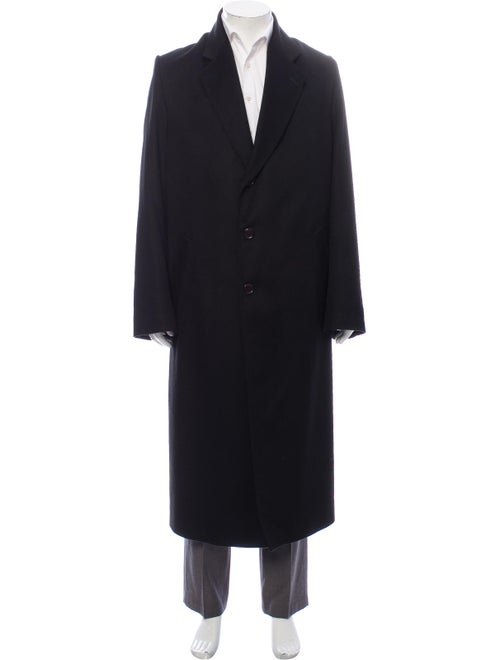 Adolfo Wool Overcoat Wool