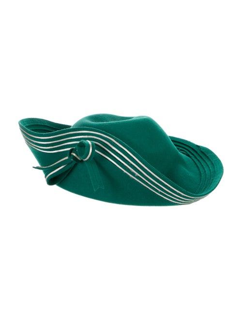 Adolfo Wide Brim hat Green - image 1
