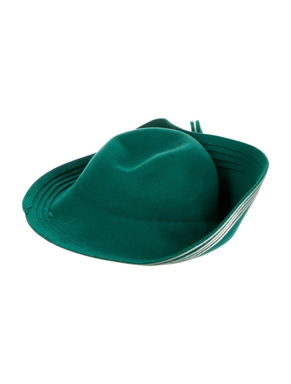 Adolfo Wide Brim hat Green - image 2