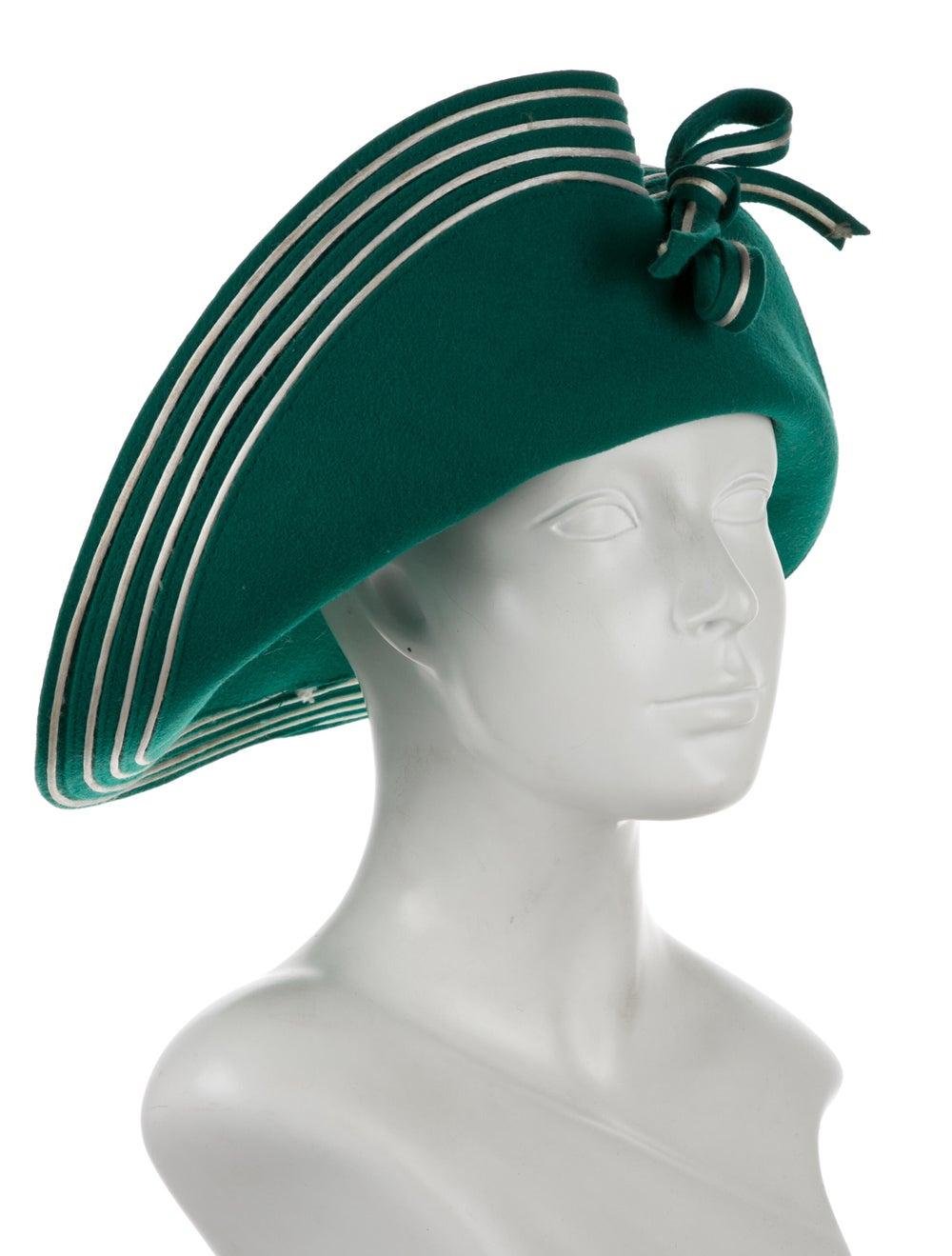 Adolfo Wide Brim hat Green - image 3