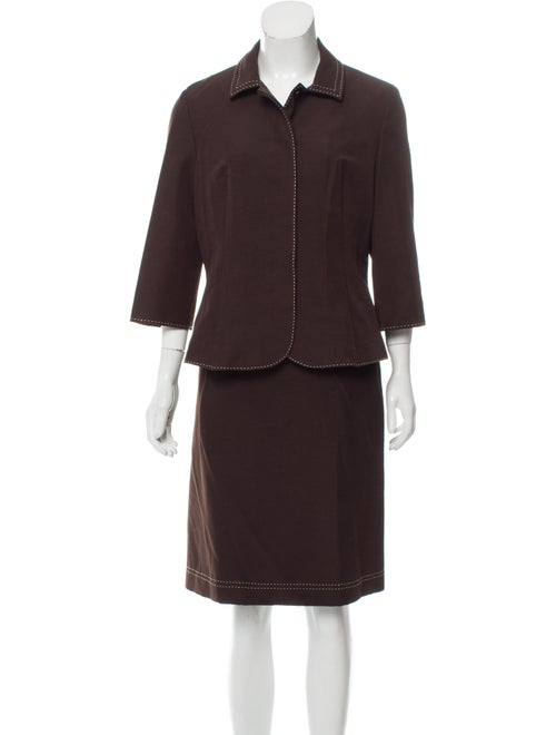 Adolfo Dominguez Skirt Suit Brown
