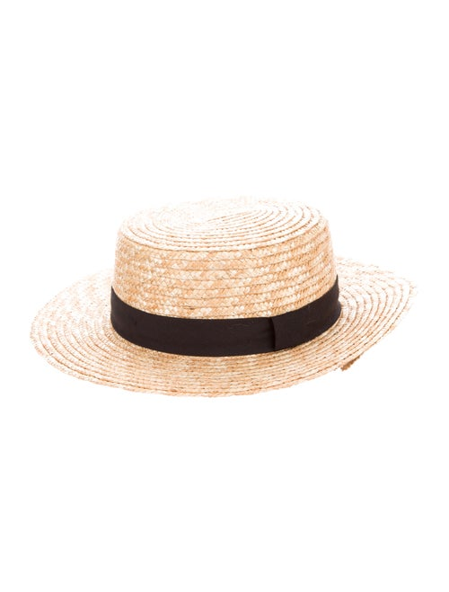 Adolfo Dominguez Straw Wide-Brim Hat Tan - image 1