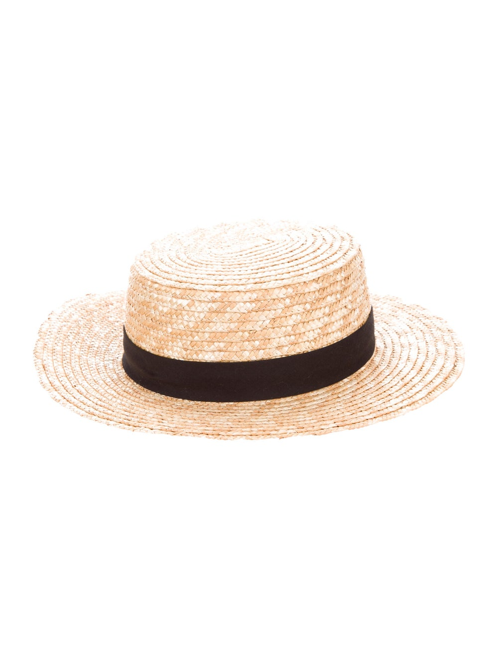 Adolfo Dominguez Straw Wide-Brim Hat Tan - image 2