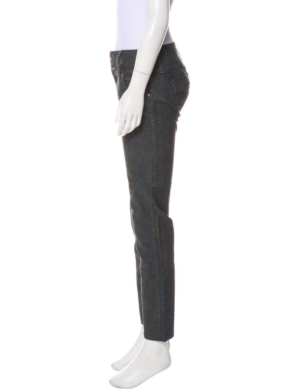 Silvia Tcherassi Splatter-Painted Mid-Rise Pants … - image 2
