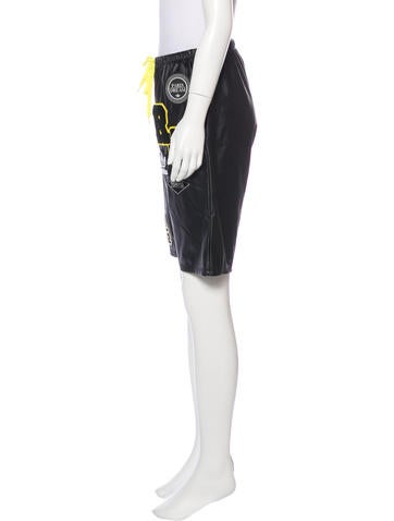 Adidas x Rita Ora Vegan Leather Knee-Length Shorts