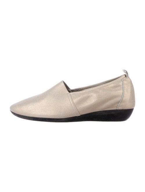 Arche Leather Ballet Flats Gold