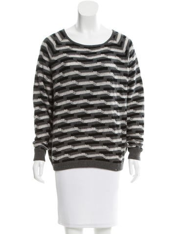 Allude Geometric-Patterned Cashmere Sweater w/ Tags None