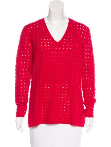 Allude Cashmere Open-Knit Sweater w/ Tags None