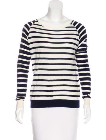 Allude Virgin Wool Striped Sweater None