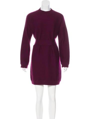 Allude Virgin Wool Sweater Dress None