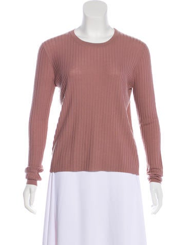 Allude Virgin Wool Rib Knit Top None