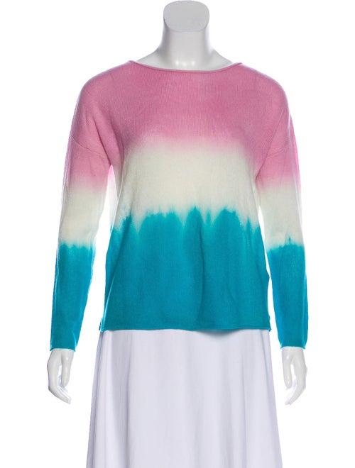 Allude Cashmere Tie-Dye Print Sweater