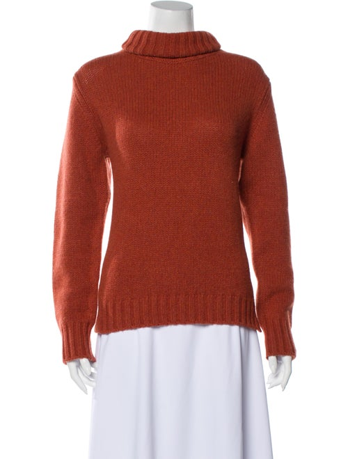 Allude Cashmere Turtleneck Sweater Orange